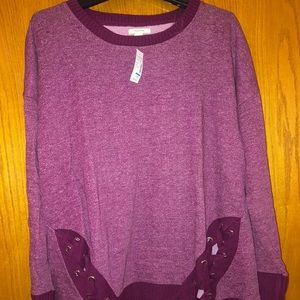 NWT Women's Mauve colored Sweatshirt top